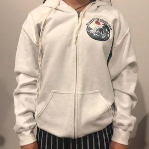 Brandy melville white hoodie